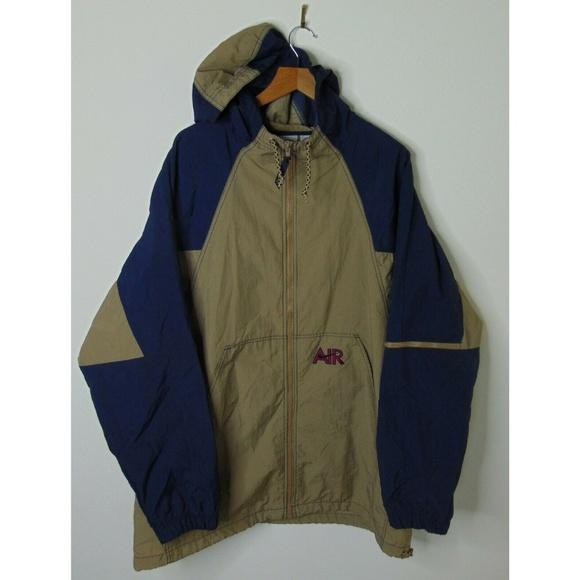 856ea63c6a56e Vintage Nike Air XL Windbreaker Jacket Tan Blue